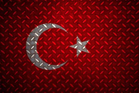 turkey Flag Seamless steel diamond plate photo