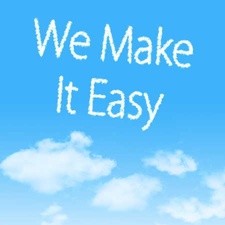 easy: cloud icon with design on blue sky background