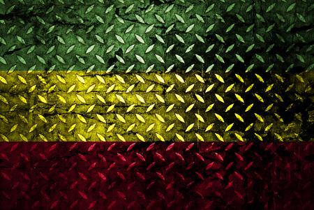 Red, yellow, green rasta flag photo
