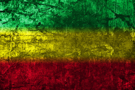Red, yellow, green rasta flag photo