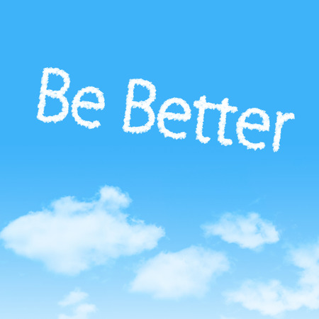 better icon: Be Better cloud icon with design on blue sky background