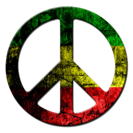 Peace sign rasta photo