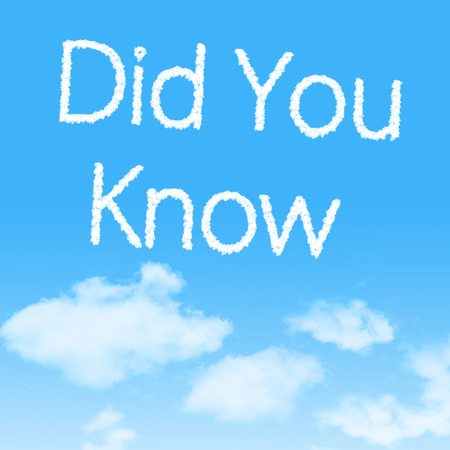 Did You Know  cloud icon with design on blue sky background photo