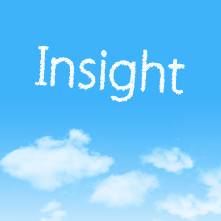 Insight cloud icon with design on blue sky background
