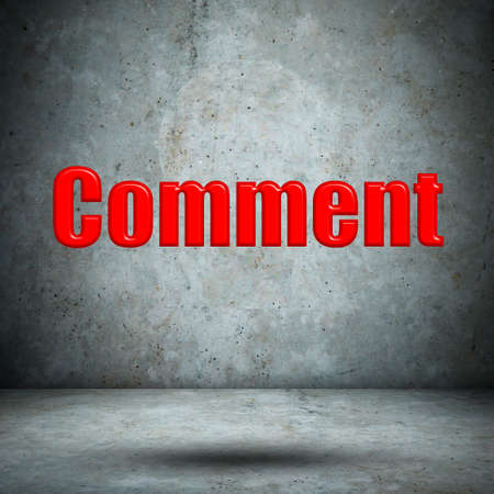 comment on concrete wall photo