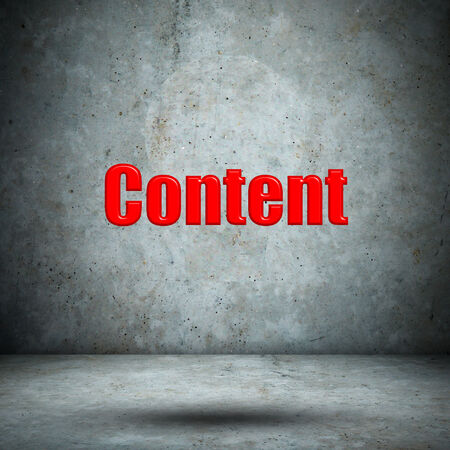 Content on concrete wall Stock Photo - 27414953