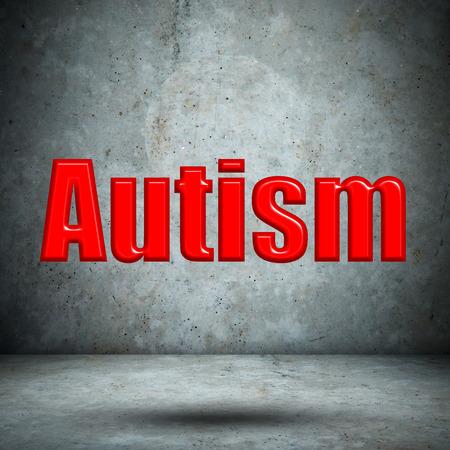 Autism on concrete wall photo