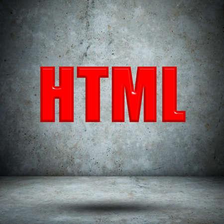 html: HTML concrete wall Stock Photo
