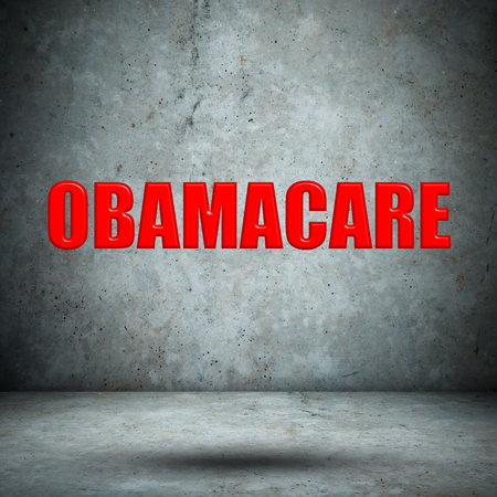 OBAMACARE concrete wall photo
