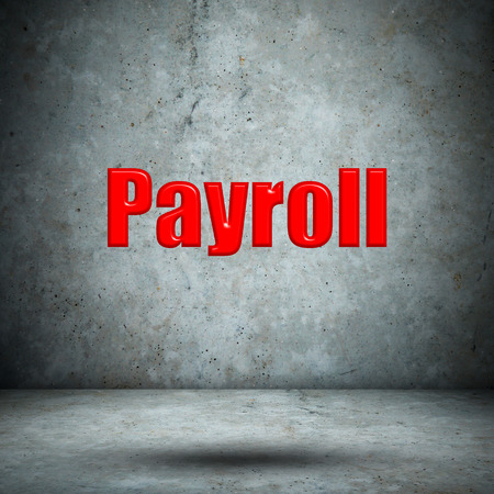 payroll: Payroll concrete wall Stock Photo