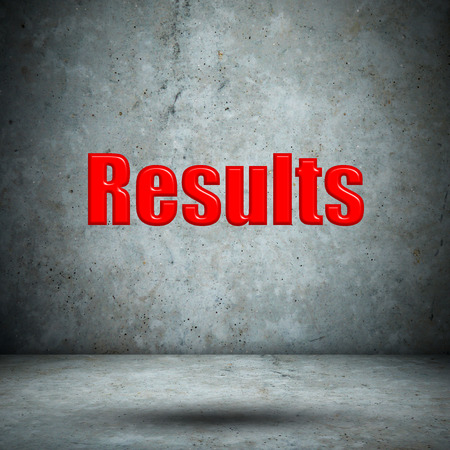 Results concrete wall Stock Photo