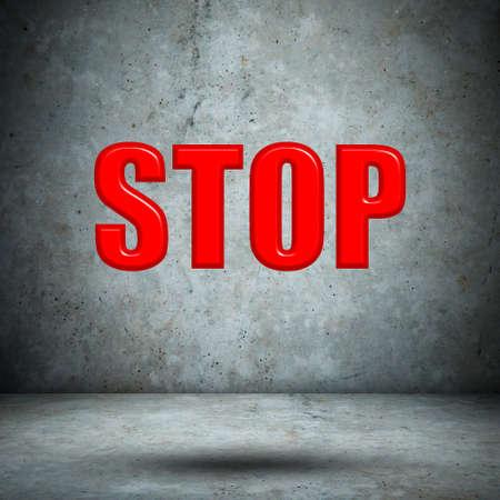 run off: STOP concrete wall