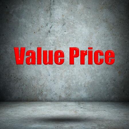 Value Price concrete wall photo