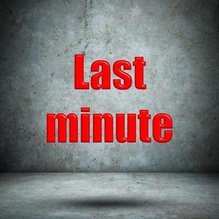 minute: Last minute concrete wall