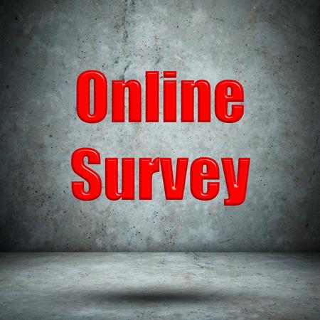 Online Survey concrete wall photo