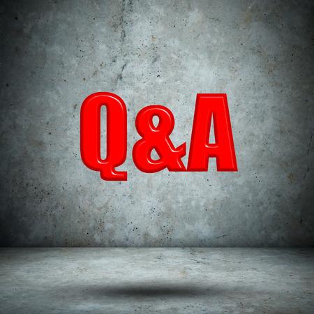 qa: Q&A concrete wall