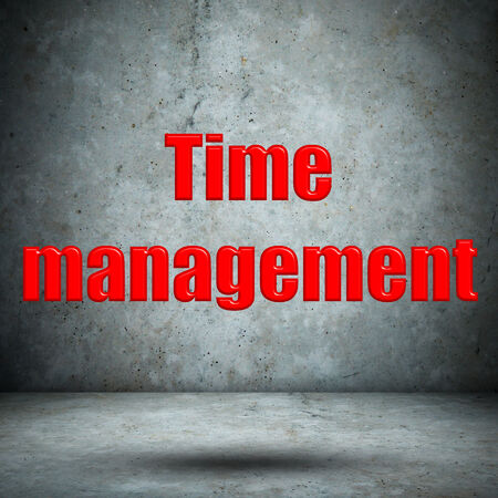 Time management concrete wall photo
