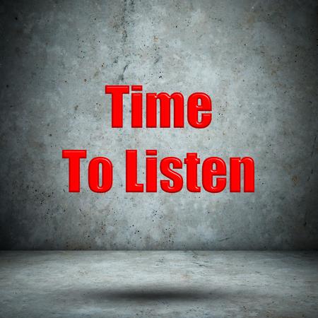 Time To Listen concrete wall photo