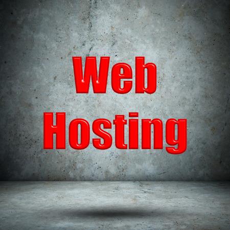 Web Hosting concrete wall photo