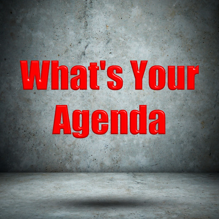 Whats Your Agenda concrete wall photo