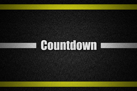 expiring: Traffic  road surface with text Countdown