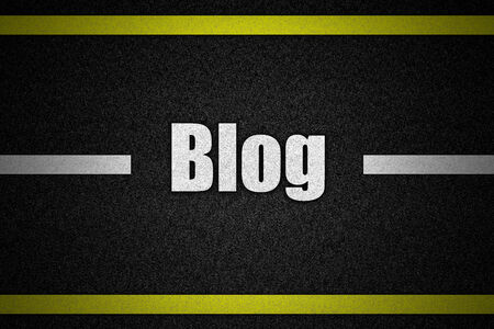 microblogging: Traffic  road surface with text Blog