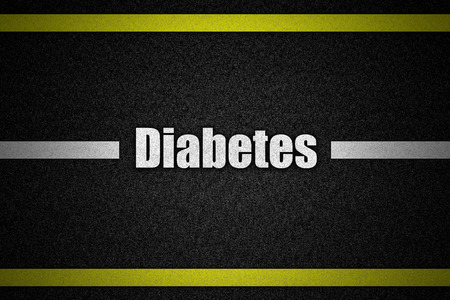 Traffic  road surface with text Diabetes photo