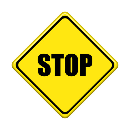 stop sign on white background photo
