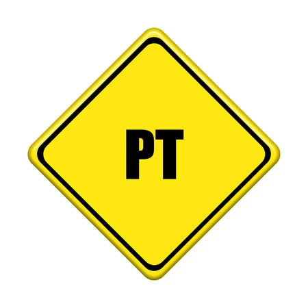 isotope:  yellow road sign on white background
