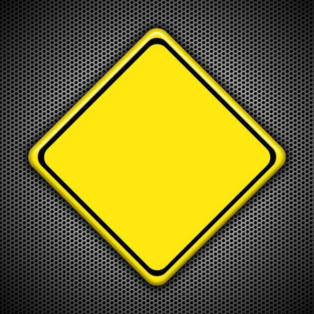 roadwork: Blank yellow road sign