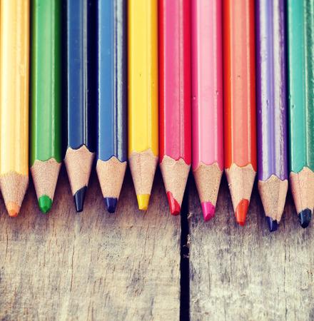 Color pencils old retro vintage style photo