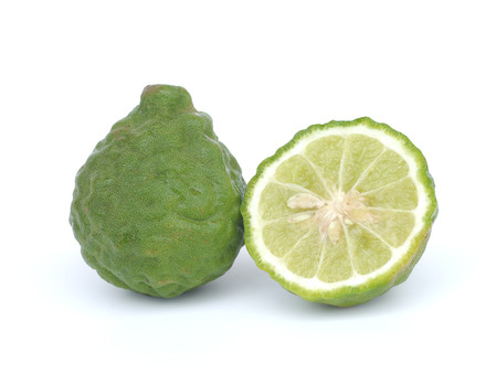Bergamot isolated white background photo