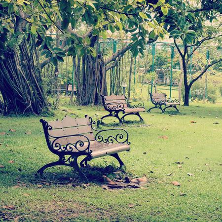 Garden Chair old vintage retro style photo