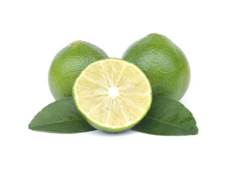 Citrus lime fruit isolated on white background photo