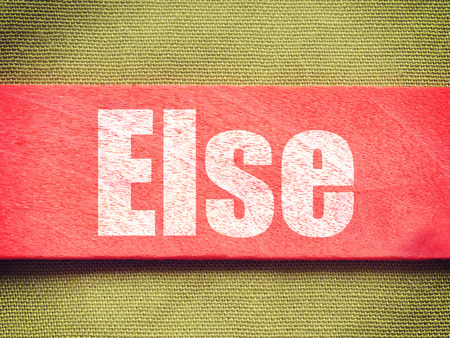 else: text on Background old retro vintage style Stock Photo