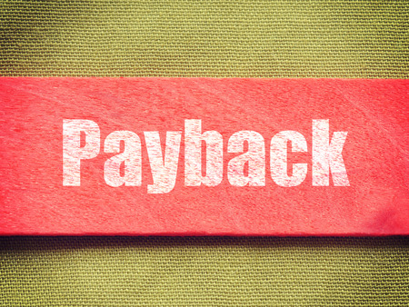 retaliation: text on Background old retro vintage style Stock Photo