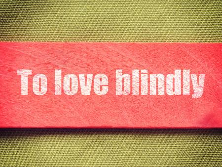 blindly: texto en el fondo antiguo estilo retro de la vendimia