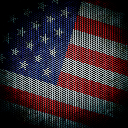 grunge  texture American flag  photo