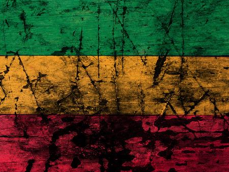 reggae: bois de fond vert, jaune, rouge