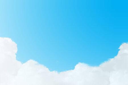 cielo despejado: Cielo azul con nubes de fondo