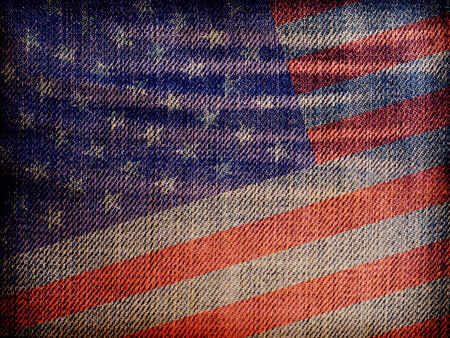 National flag on denim texture: USA photo