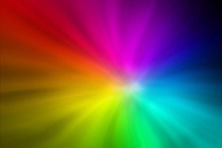 rainbow explosion abstract background photo