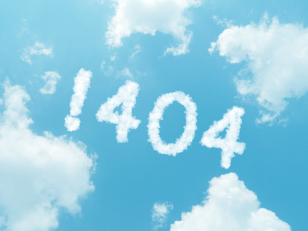 find fault: cloud words with design on blue sky background