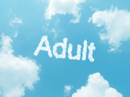 vocational high school: cloud words with design on blue sky background