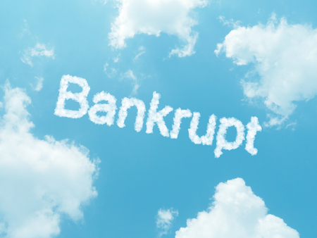 deficits: cloud words with design on blue sky background