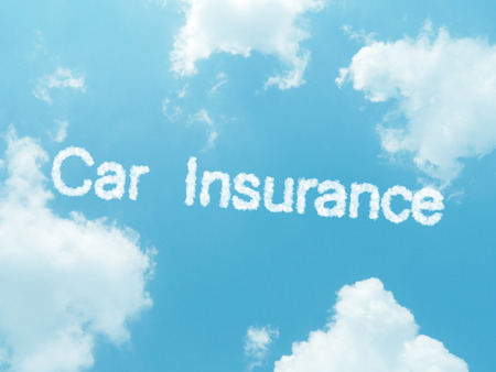 accident rate: cloud words with design on blue sky background