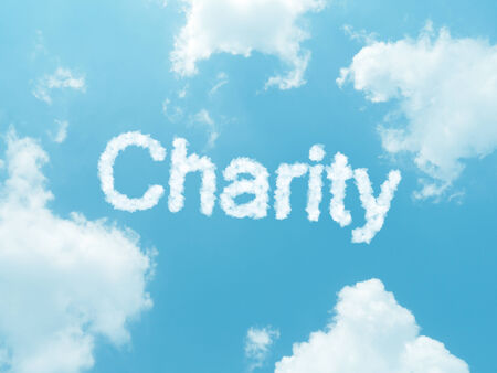 solicitation: cloud words with design on blue sky background