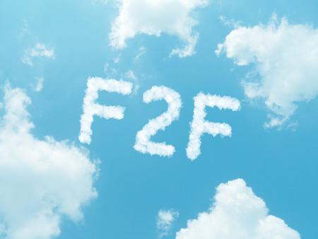 wolk woorden met design op blauwe hemel achtergrond