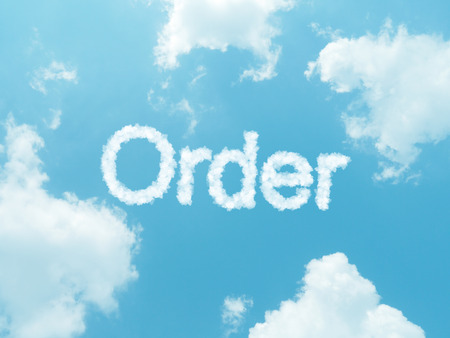 trading questions: cloud words with design on blue sky background