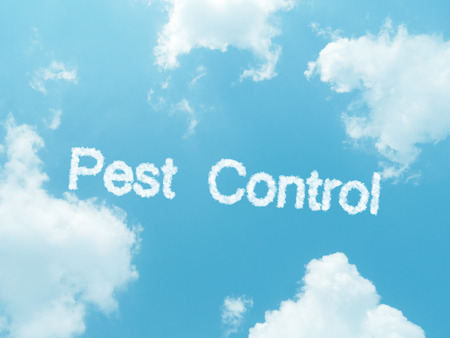 annihilation: cloud words with design on blue sky background